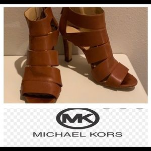Michael Kors Leather Caged Heels